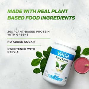 Vega Protein and Greens Vanilla (26 Servings, 26.8 Ounce) - Vegan Plant Based Protein Powder Shake, for $31