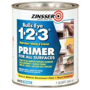 Zinsser Bulls-Eye 1-2-3 Interior/Exterior 1-Quart Acrylic Primer for $9.99 for Ace Rewards members