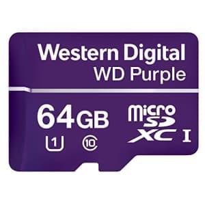 Western Digital WDD064G1P0A WD Purple 64GB Surveillance microSD Card for $21