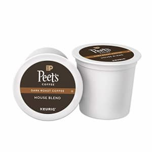 Peet's Peets Coffee House Blend Coffee K-Cup Coffee Pods for Keurig Brewers, Dark Roast, 16 Pods for $20