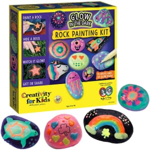 Creativity for Kids Glow In The Dark Rock Painting Kit for $14