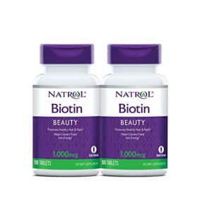 Natrol Biotin Beauty Tablets, Promotes Healthy Hair, Skin and Nails, Helps Support Energy for $16