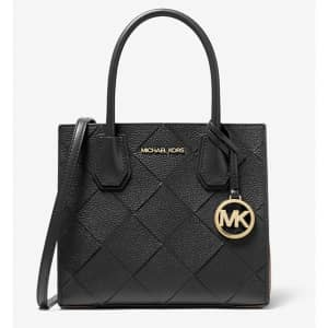 Michael Michael Kors Mercer Medium Woven Leather Accordion Crossbody Bag for $109