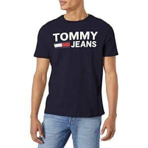 Tommy Hilfiger Men's Short Sleeve Graphic T Shirt, Sky Captain, XL for $38