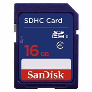 SANDISK SDHC 16GB Blister Pkg 3x5 Class 4 SDSDB-016G-B35 for $8