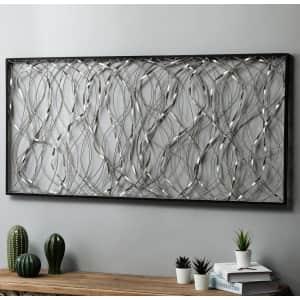 LuxenHome Metal Infinity Rectangular Wall Decor for $66