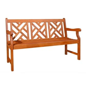 Vifah Outdoor Wood Bench for $159