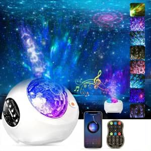 HueLiv 3-in-1 LED Star Projector Night Light for $16