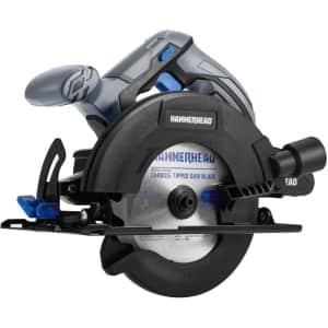 "HammerHead 20V 6.6"" Cordless Circular Saw Kit for $73"