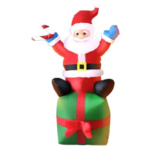 6-Foot Inflatable Santa Claus on Christmas Present for $70