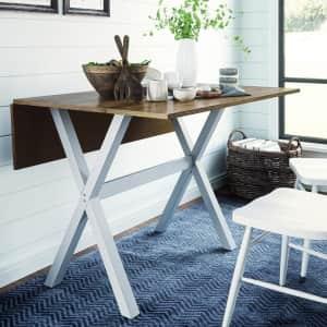 Nathan James Kalos Solid Wood Drop-Leaf Table for $119