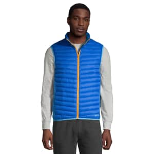 Lands' End Men's Insulated Down Alternative Thermoplume Vest for $22