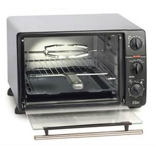 Maxi-Matic Elite Gourmet Countertop Toaster Oven, 60-Min Timer with Stay-On Function Rotisserie, for $92