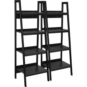 Ameriwood Home Lawrence 4-Shelf Ladder Bookcase Bundle for $102