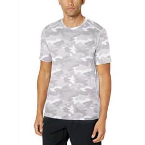 Amazon Essentials Men's Tech Stretch Short-Sleeve Performance T-Shirt, White Camo, X-Small for $8