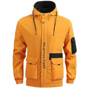 Men's Lightweight Thermal Hooded Jacket for $10