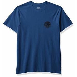 Rip Curl Men's Big Boys' Wettie Logo TEE Shirt, Royal Blue, S for $26