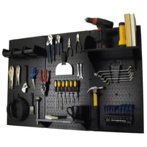 Pegboard Organizer Wall Control 4 ft. Metal Pegboard Standard Tool Storage Kit with Black Toolboard for $108