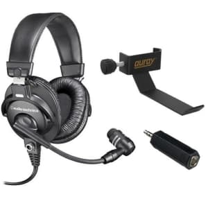 """Audio-Technica BPHS1 Broadcast Stereo Headset with COHH-2 Clamp On Headphone Holder and 1/4"""" TS for $220"""