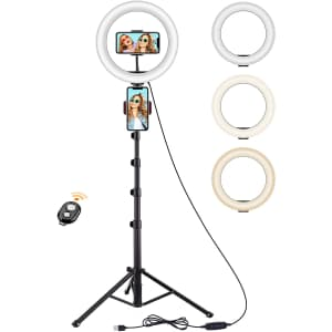 """Techvilla 10"""" LED Ring Light with Tripod Stand for $40"""