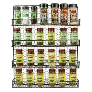 Sorbus 4-Tier Wall Mounted Spice Rack Storage Organizer for $15