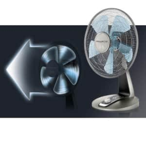 Rowenta VU2531 Turbo Silence Oscillating 12-Inch Table Fan Powerful and Quiet, 4-Speed, Bronze for $111