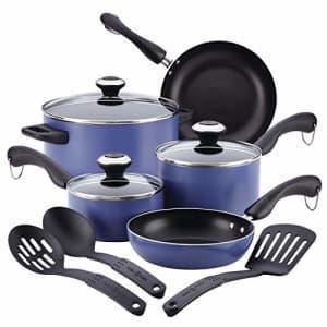 Paula Deen Signature Dishwasher Safe Nonstick Cookware Pots and Pans Set, 11 Piece, Blueberry for $47