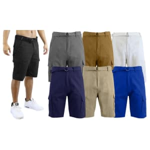 Galaxy by Harvic Men's Slim-Fit Cotton Cargo Shorts for $11