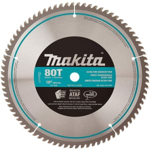 "Makita 10"" 80-Tooth Micro Polished Mitersaw Blade for $36"