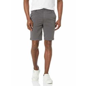HUDSON Jeans Men's Chino Shorts, Dark Grey, 42 for $30
