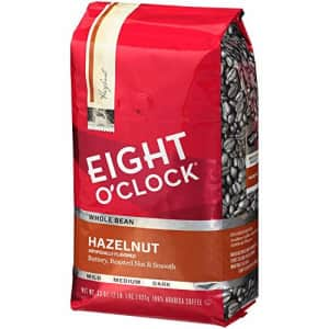 Eight O'Clock Coffee Eight O'Clock Whole Bean Coffee, Hazelnut, 33 Ounce (Pack of 1) for $13