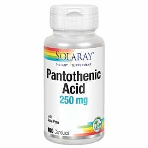 Solaray Pantothenic Acid 250mg | Vitamin B5 | Energy Metabolism, Hair, Skin, Nails & Digestive for $10