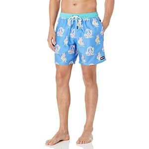 NEFF Men's Daily Hot Tub Board Shorts for Swimming, Peace Blue, Medium for $39