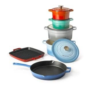 Martha Stewart Collection Enameled Cast Iron Cookware at Macy's: from $7