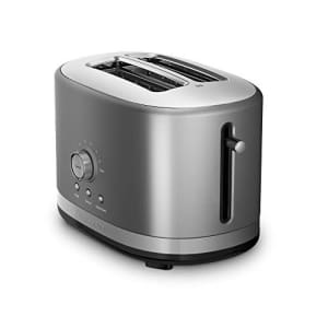 KitchenAid 2-Slice Toaster with High-Lift Lever KMT2116CU, Contour Silver for $80