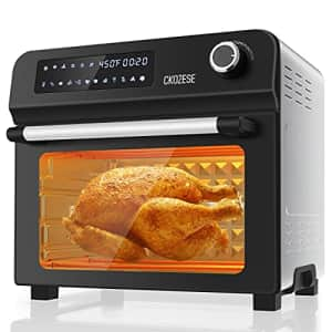 KBS 10-in-1 Toaster Oven with Rotisserie & Dehydrator, 24Qt Large Air Fryer Combo for Toast Bake Broil for $119