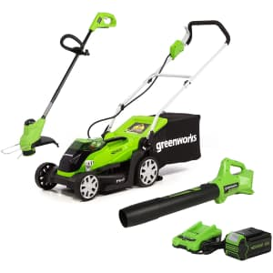 Greenworks 40V Mower/Axial Blower/String Trimmer Combo for $350