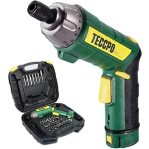Teccpo 4V Cordless Screwdriver 45-Piece Kit for $29