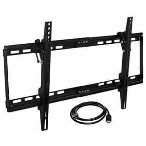 Mount-it! MI-1121M-CBL Slim Tilting TV Wall Mount Bracket Low Profile for Samsung, Sony, Vizio, for $21