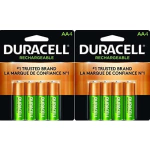 Duracell Rechargeable AA NiMH Batteries, MIGNON/HR6/DC1500, 2450mAh, 8-Count Package for $47