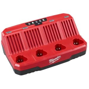Milwaukee M12 12V Li-ion 4-Port Sequential Battery Charger for $59