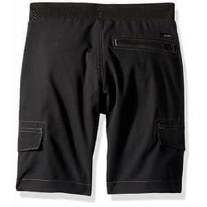 Lee Jeans Lee Big Boy Proof Pull-On Varsity Cargo Short, Onyx, 18 Husky for $19