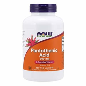 Now Foods NOW Supplements, Pantothenic Acid (Vitamin B-5) 500 mg, B-Complex Vitamin, 250 Capsules for $26