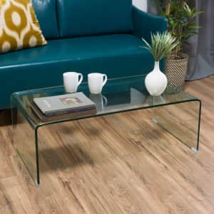 """Noble House Pazel 39"""" Tempered Glass Coffee Table for $118"""