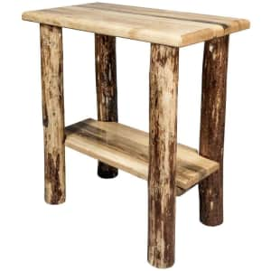 Montana Woodworks Glacier Country Collection Solid Wood Side Table for $134