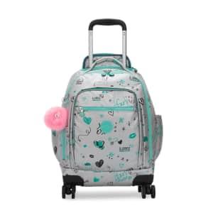 "Kipling Zea Metallic 15"" Laptop Rolling Backpack for $147"