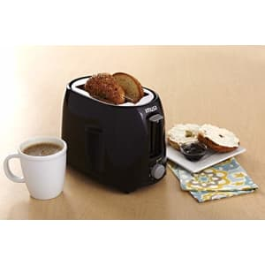 IMUSA USA GAU-80321B Black 2-Slice Basic Cool Touch Toaster with Extra-Wide Slot for Bagels and for $38