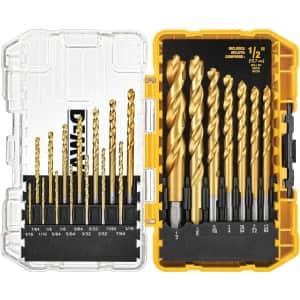 DeWalt Titanium Pilot Point Drill Bit 21-Piece Set for $20