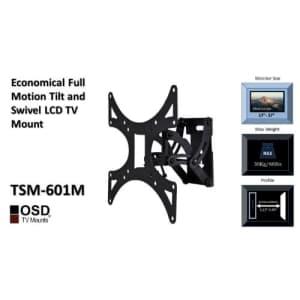 OSD Audio TSM-601M Full Motion Tilt and Swivel Wall Mount for 17-inch to 37-inch LED, LCD or Plasma for $25