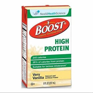 Boost Very Vanilla High Protein Drink, 8 Fluid Ounce - 27 per case. for $48